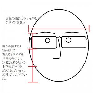 似合うメガネ図